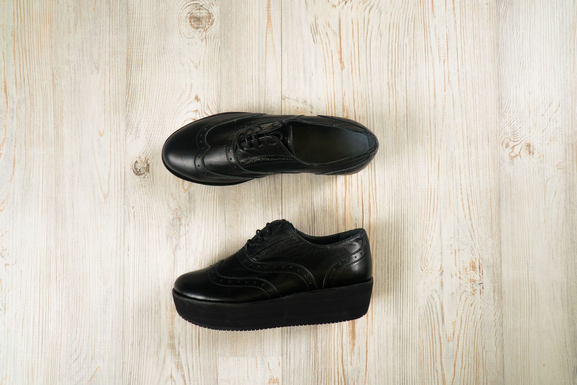 Обувь жен AFUOR  Brogue №2 All Black30 DS0103000