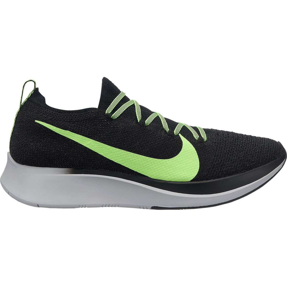 Спортивная обувь m Nike Zoom Fly Flyknit black/lime blast-vast grey