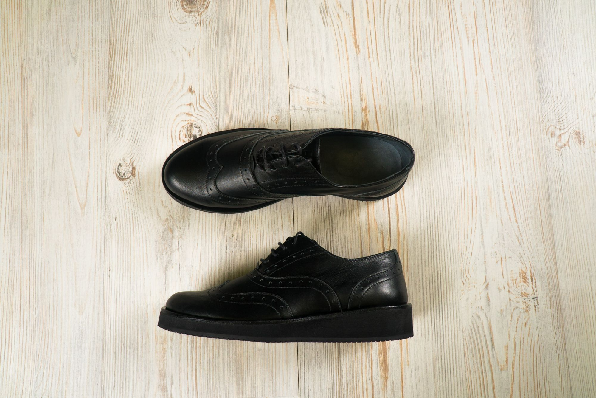 Обувь жен AFUOR Brogue №2 All Black10 DS0103000